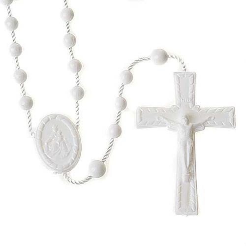 White nylon rosary 1