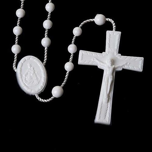 White nylon rosary 2