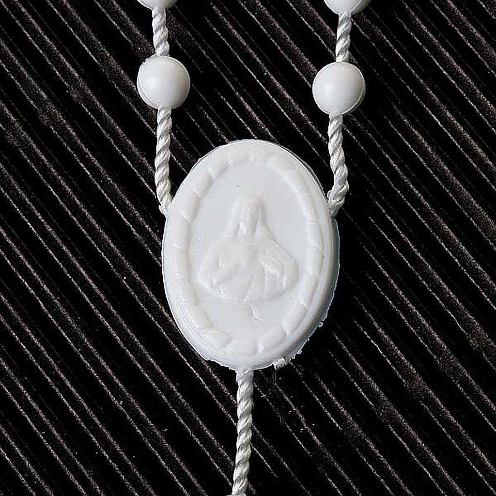 Rosario economico nylon bianco 5 mm 4