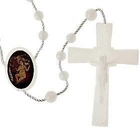 Chapelet nylon blanc enfant Jésus s1