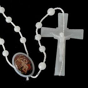Chapelet nylon blanc enfant Jésus s5