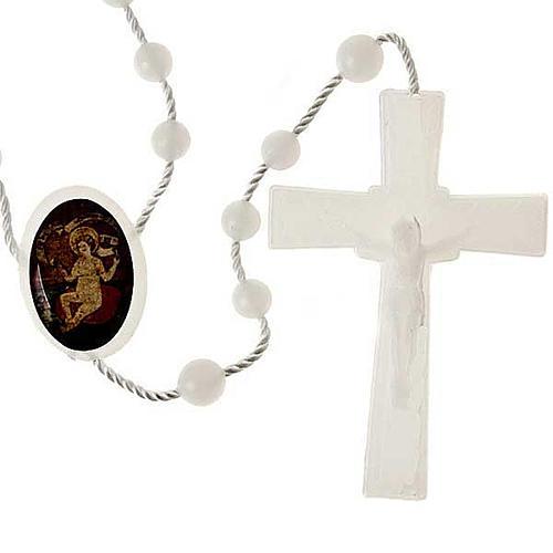 Chapelet nylon blanc enfant Jésus 1