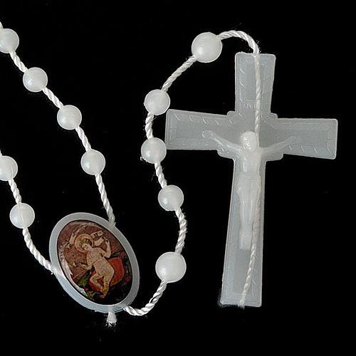 Rosario nylon bianco Gesù bambino Wettingen 5 mm 5
