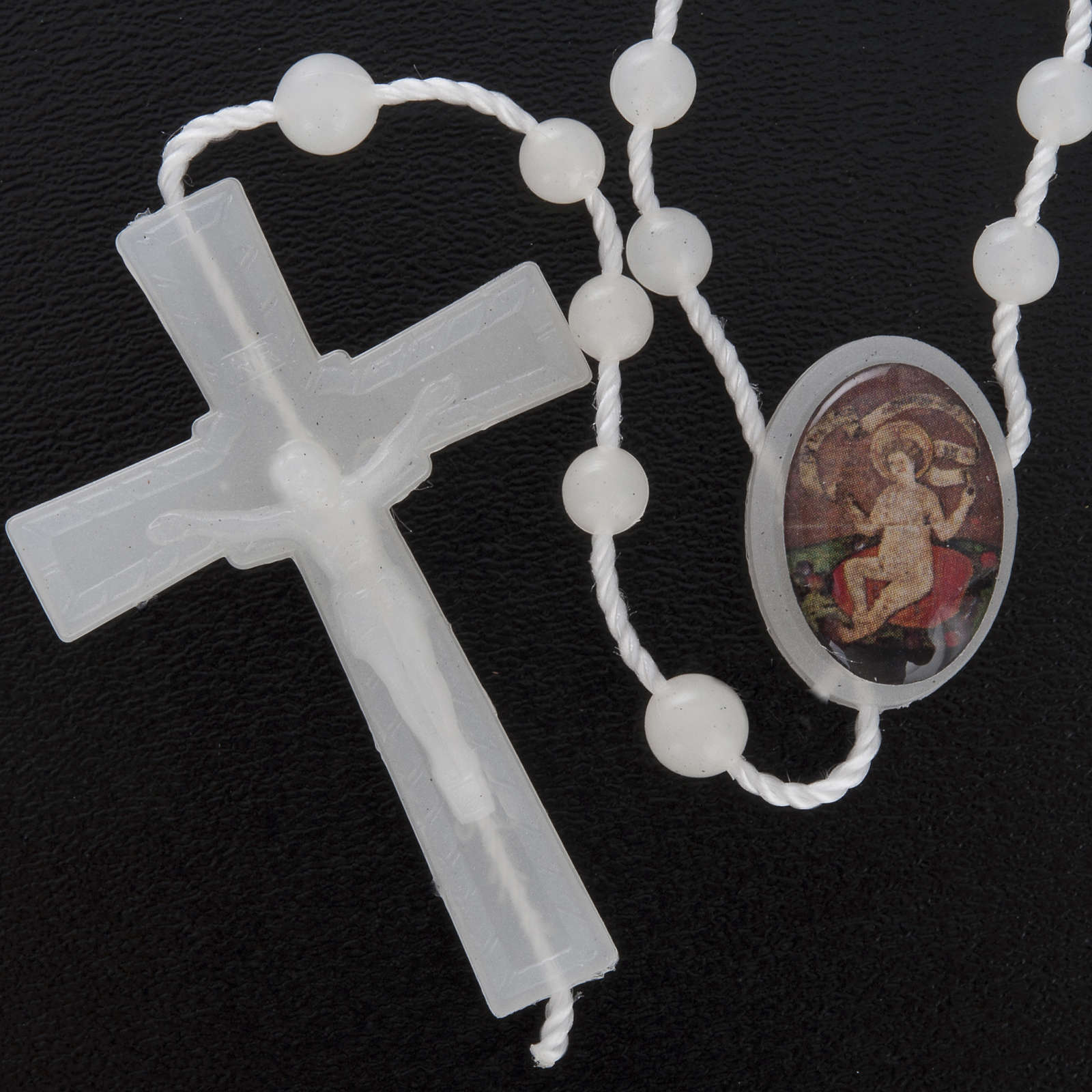 Nylon Rosenkranz fluoreszierend Jesuskind Wettingen 5 mm 4