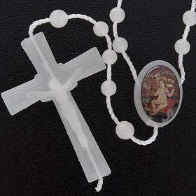 Nylon Rosenkranz fluoreszierend Jesuskind Wettingen 5 mm s2