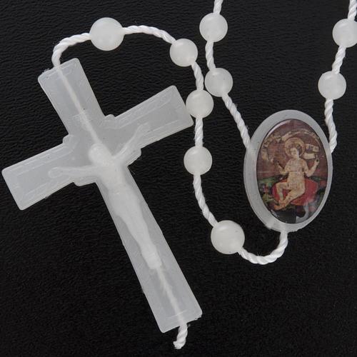 Nylon Rosenkranz fluoreszierend Jesuskind Wettingen 5 mm 2