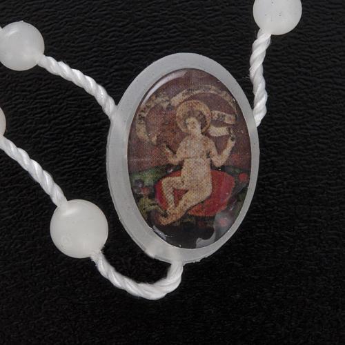 Nylon Rosenkranz fluoreszierend Jesuskind Wettingen 5 mm 3
