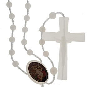 Fluorescent nylon rosary with image of Baby Jesus from Wettingen s1