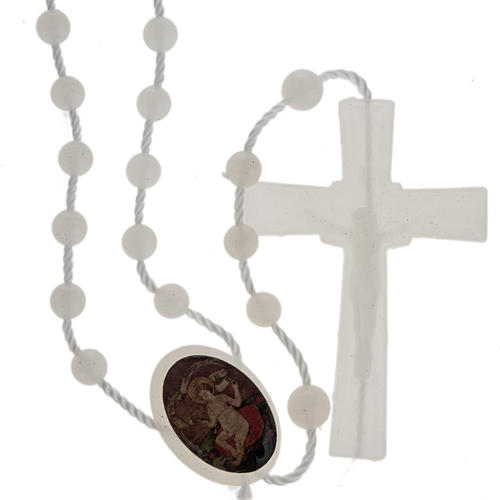 Fluorescent nylon rosary with image of Baby Jesus from Wettingen 1