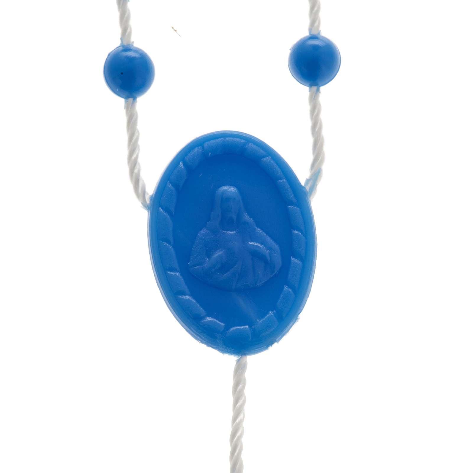 Rosario nylon azul 4
