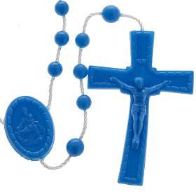 Terços Baratos: Terço nylon azul escuro