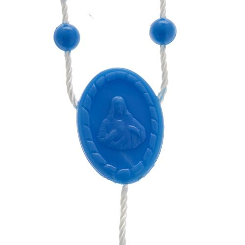 Blue nylon rosary 2