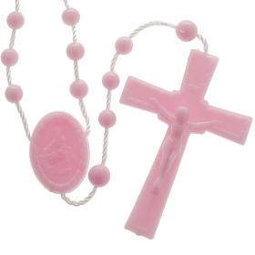 Economical rosaries: Pink nylon rosary