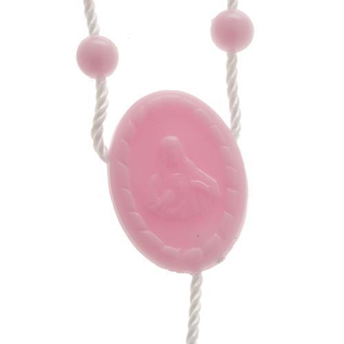Terço nylon cor-de-rosa 2