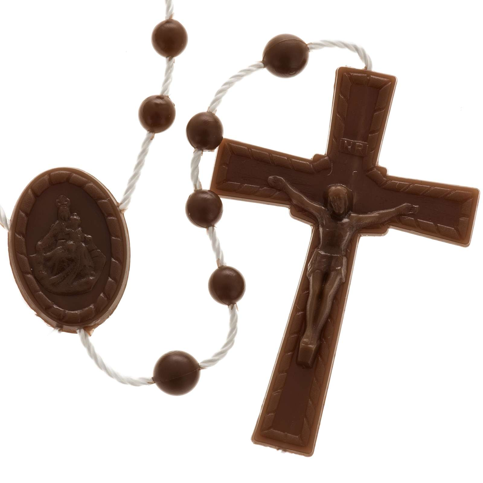 Brown nylon rosary 4