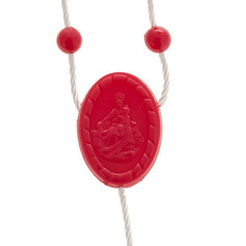 Rosario nylon rosso 2