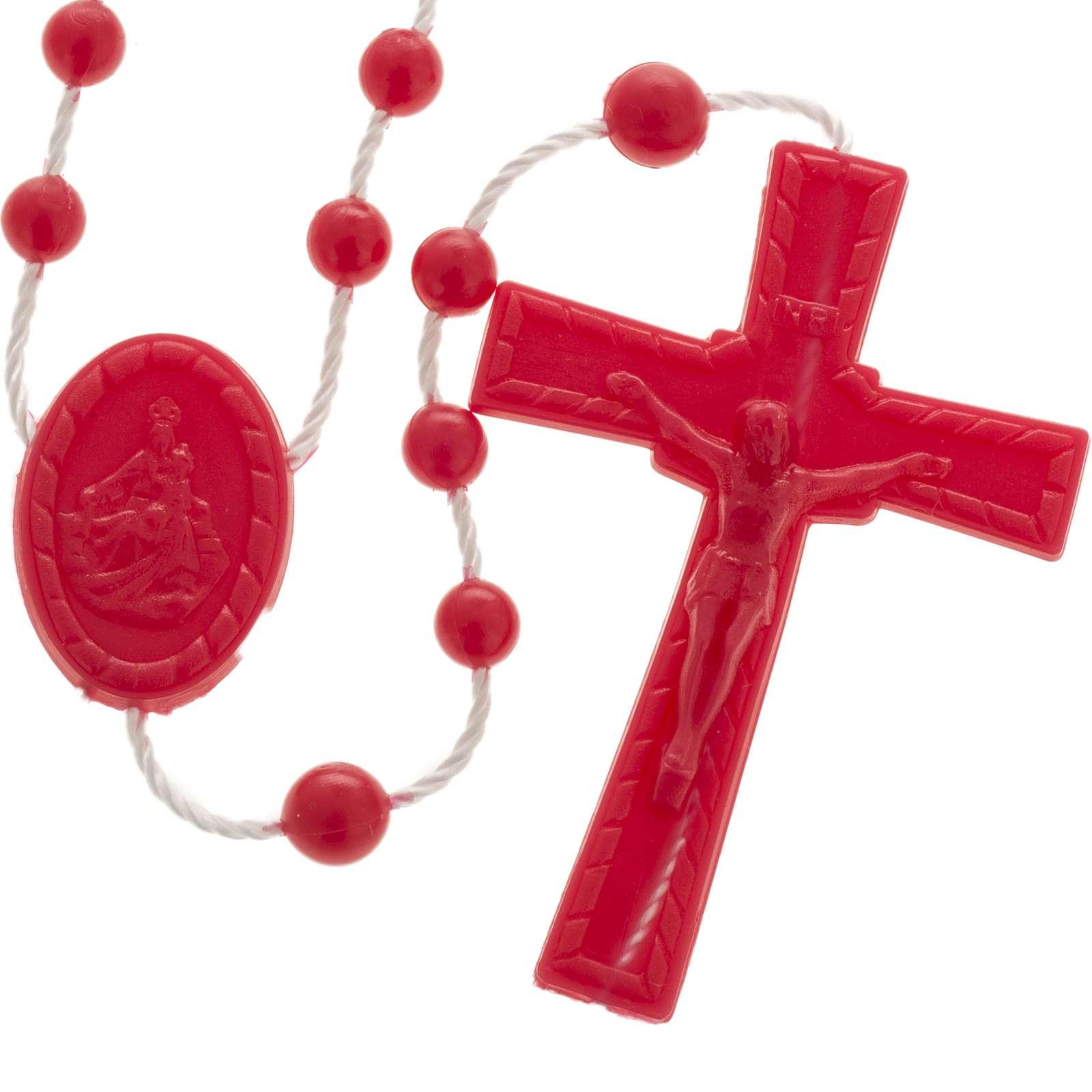 Red nylon rosary 4