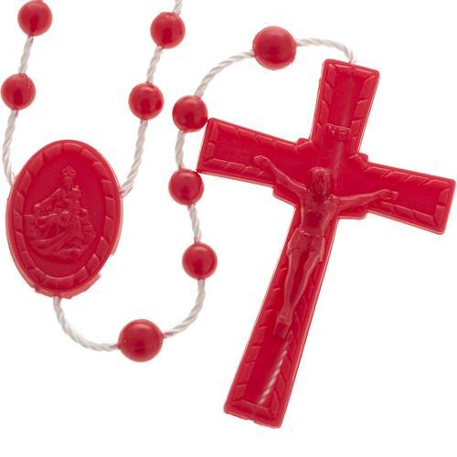 Red nylon rosary 1