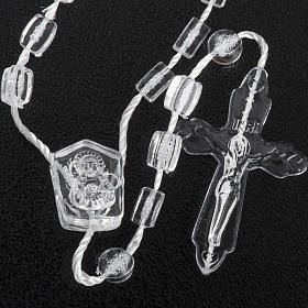 Set, Rosenkranz und Etui, transparente Perlen, mit Verschluss s3
