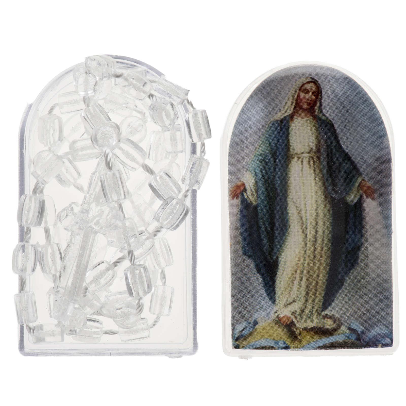 Chapelet nylon transparent avec ouverture et boite 4