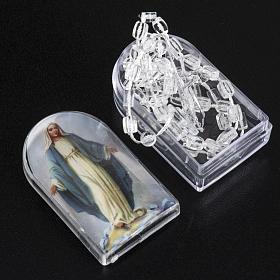Chapelet nylon transparent avec ouverture et boite s2