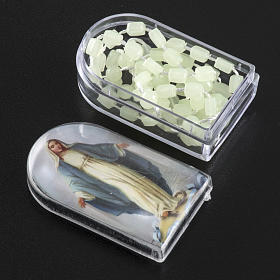 Fluorescent nylon rosary with box, centerpiece easy to open s2