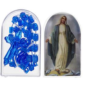 Rosario nylon blu Apri e Chiudi con scatolina s1