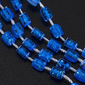 Rosario nylon blu Apri e Chiudi con scatolina s6