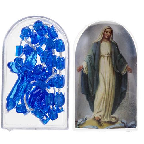 Rosario nylon blu Apri e Chiudi con scatolina 1