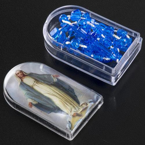 Rosario nylon blu Apri e Chiudi con scatolina 4