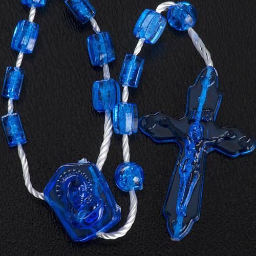 Rosario nylon blu Apri e Chiudi con scatolina 5