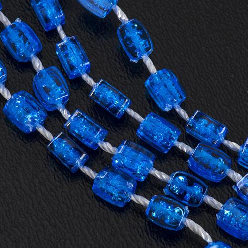 Rosario nylon blu Apri e Chiudi con scatolina 6
