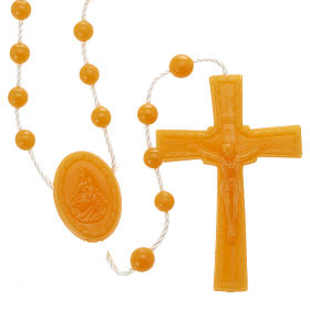 Economical rosaries: Orange nylon rosary