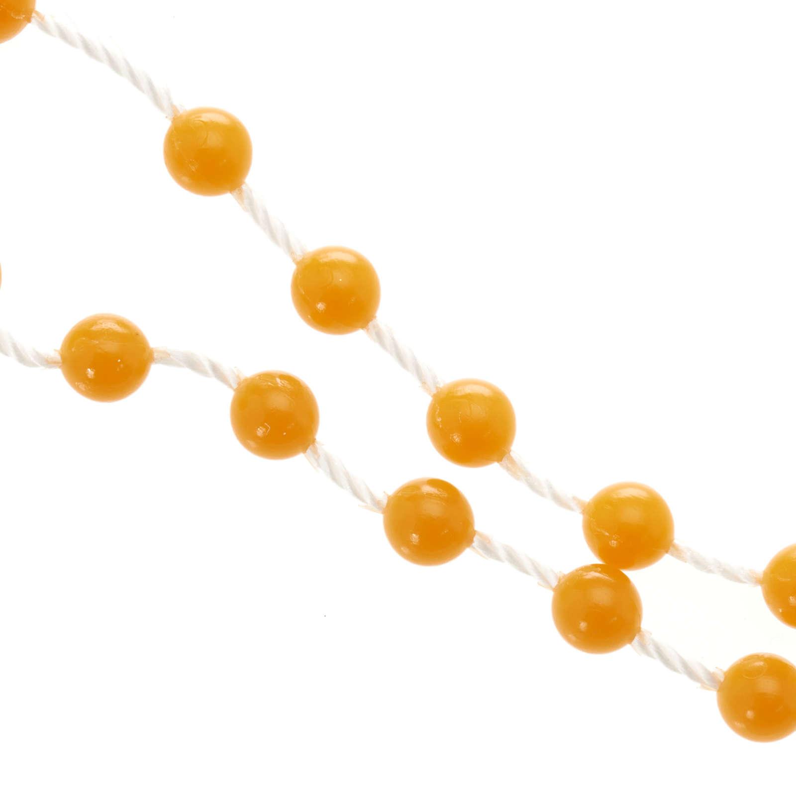 Rosario de Nylon Naranja 4