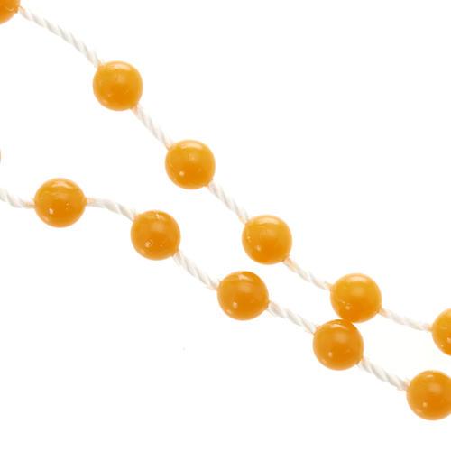 Rosario de Nylon Naranja 2