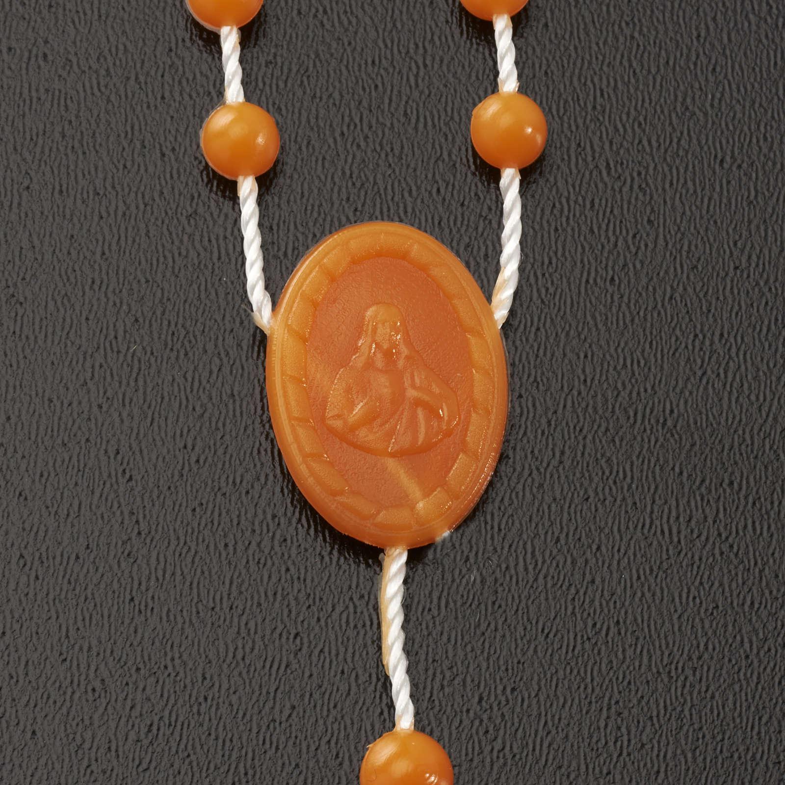 Chapelet en nylon orange 4