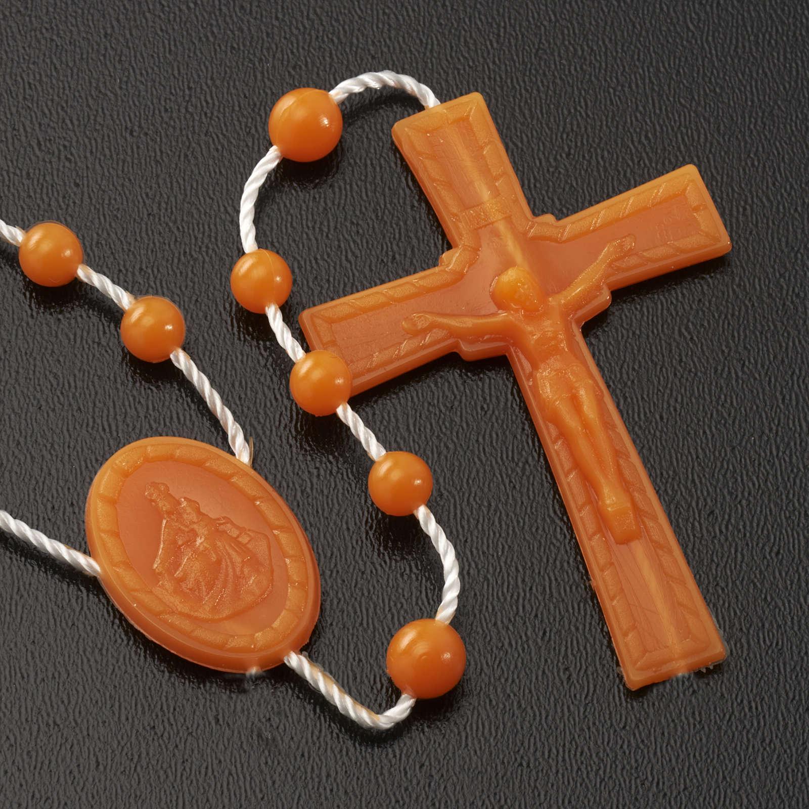 Orange nylon rosary 4