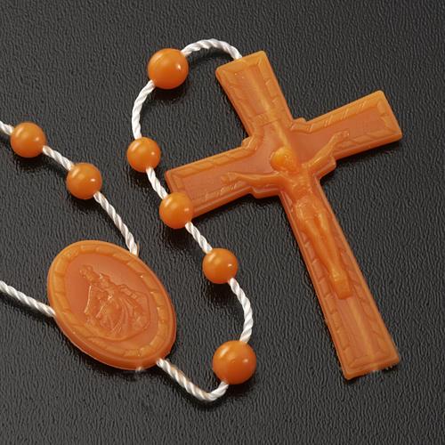 Orange nylon rosary 3