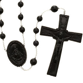 Economical rosaries: Black nylon rosary