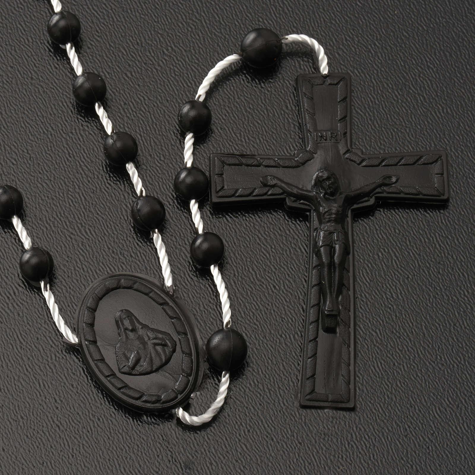 Black nylon rosary 4