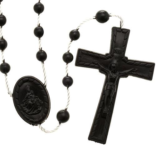 Black nylon rosary 1