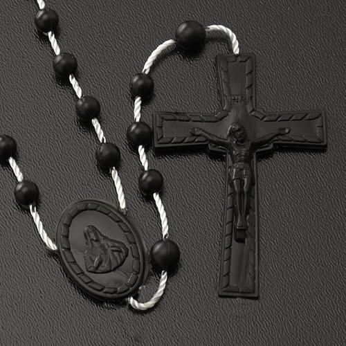 Black nylon rosary 2