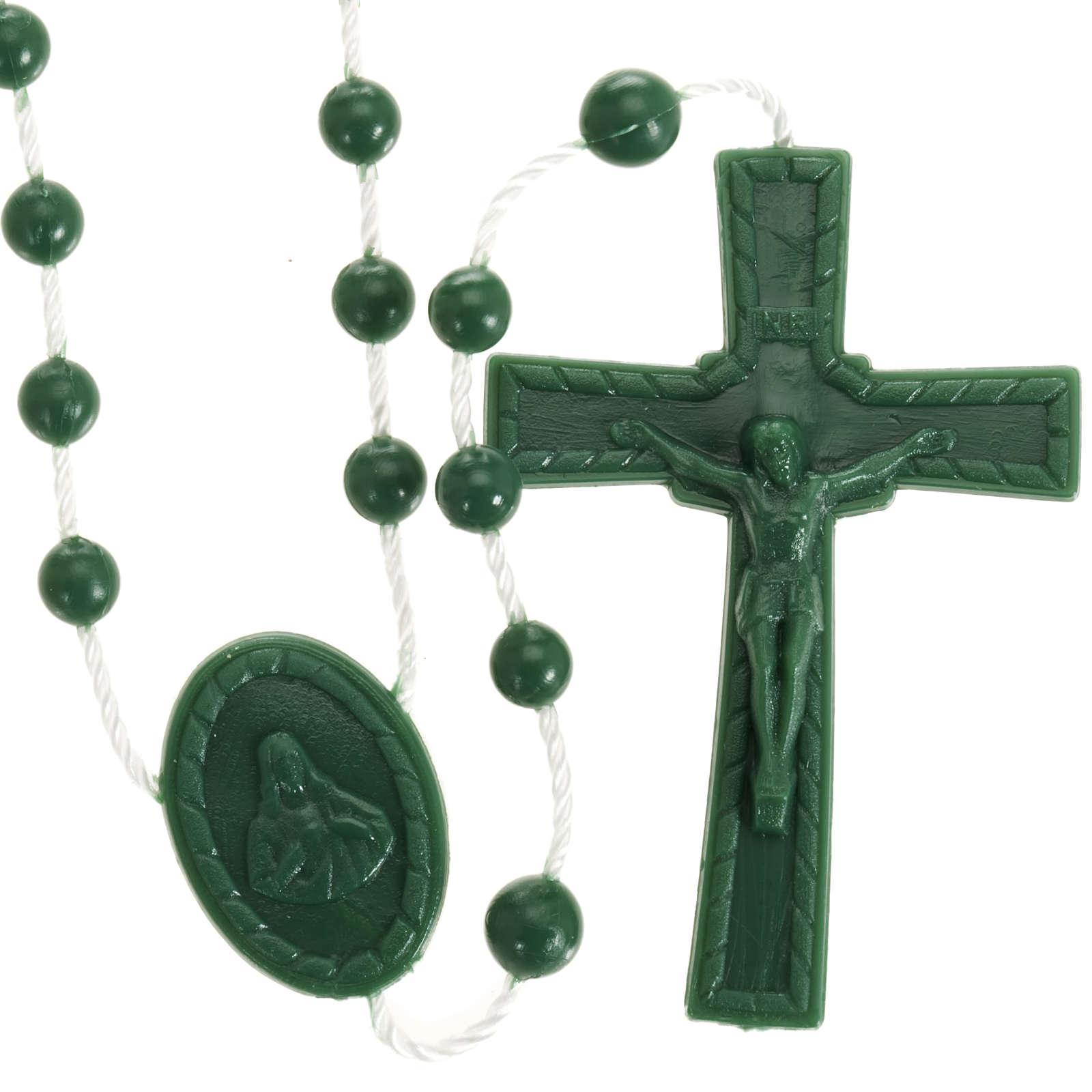 Nylon-Rosenkränze Brau Kunststoff-Rosenkranz Plastik Rosary Rosario brown 5 St