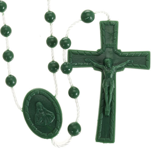 Green nylon rosary 1