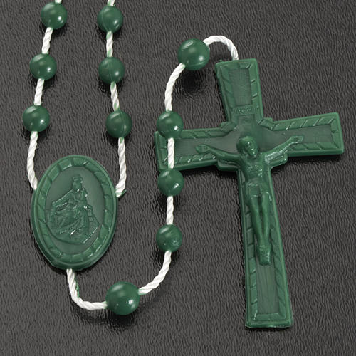 Green nylon rosary 2
