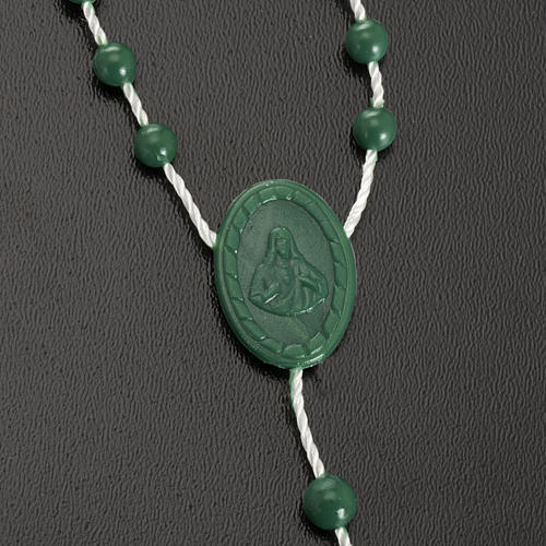 Green nylon rosary 3