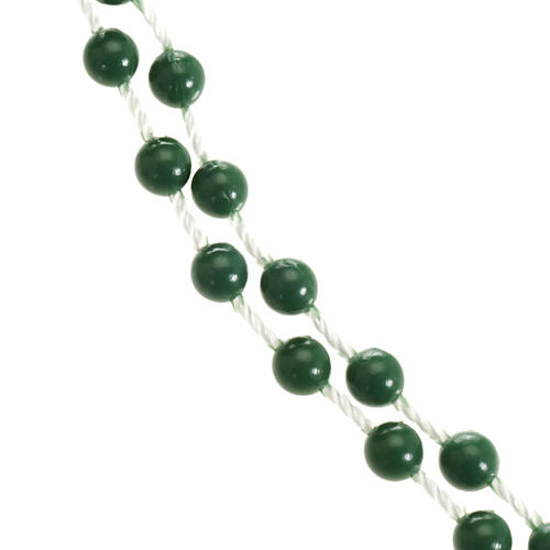 Green nylon rosary 4