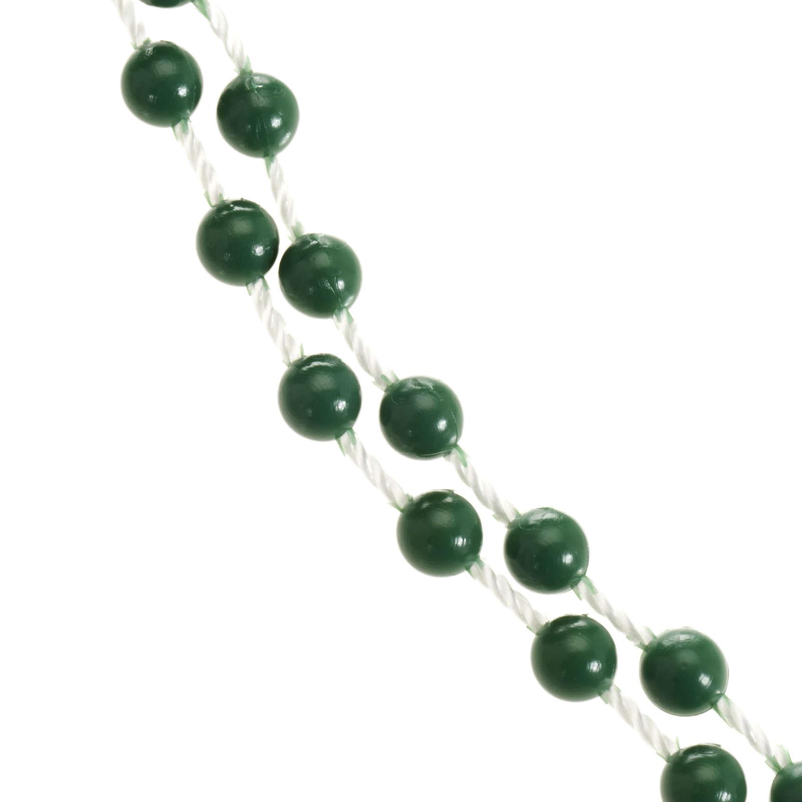 Green nylon rosary 4