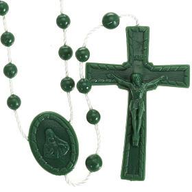 Green nylon rosary s1