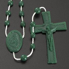 Green nylon rosary s2